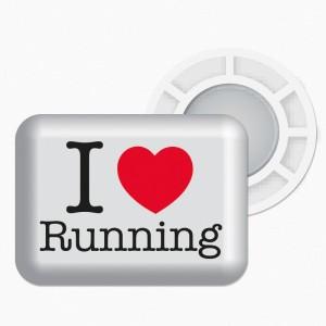 I Love Running - bílá