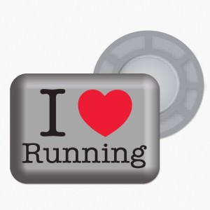 I Love Running - šedá