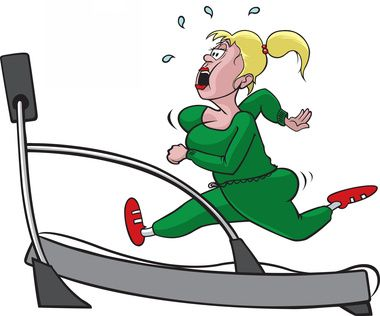 Treadmill woman